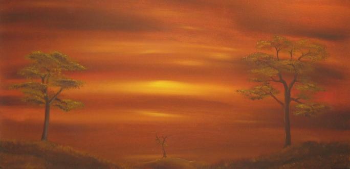 20 x 40 Acrylic on Canvas