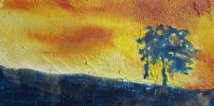 8 x 16 Resin Sand and Acrylic on Canvas
